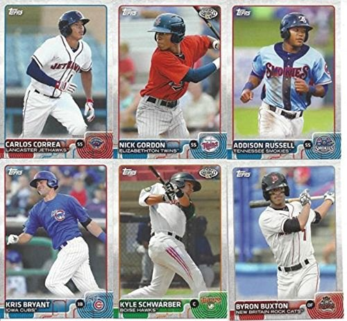 2015-topps-pro-debut-mlb-baseball-series-complete-mint-200-card-base-set-with-kris-bryant-steven-mat