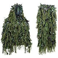 Hybrid Woodland Camouflage Ghillie Hunting Suit Light...