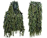 Best Ghillie Suits - Hybrid Woodland Camouflage Ghillie Hunting Suit Light Weight Review