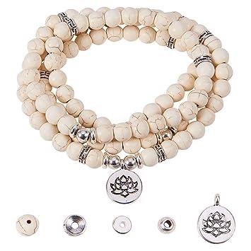 Make 1pc Hand Knotted Prayer Tassel Pendant Necklace /& 1 Adjustable Wrap Bracelet SUNNYCLUE DIY 1 Set 108 Amethyst Gemstone Mala Beads Beaded Necklace Bracelet Jewelry Making Kit