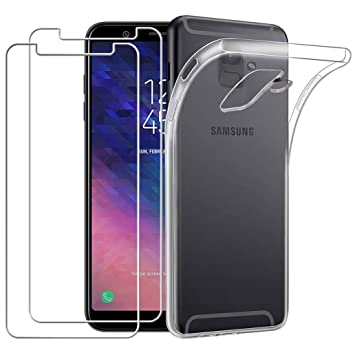 Yoowei Carcasa Samsung Galaxy A6 2018 Transparente + [2-Pack ...