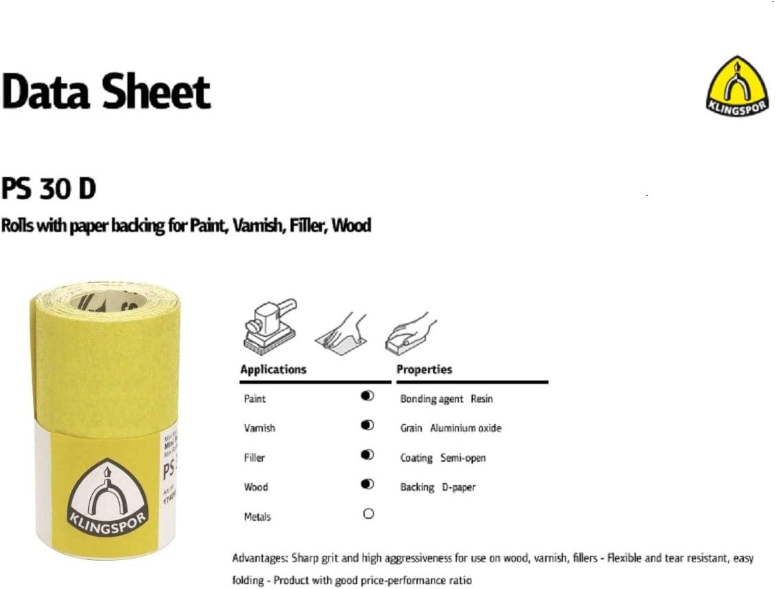 100 Grit 115mm x 4.5m Aluminium Oxide Sanding Paper Roll