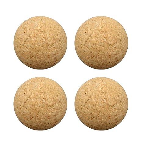 Tikafr 36 mm de Corcho de Madera Maciza, Mesa de fútbol, balón de ...