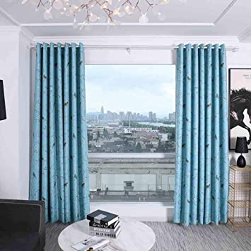 Waniba Rideau Doux /à Oeillets Livingroom Rideaux Salon 200x100cm Isolant Thermique Rideau Prot/ège la Chaleur et Lumi/ère Beige Rose, 200x100cm