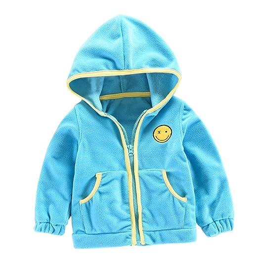 1995889d38d2 Amazon.com  KONFA Baby Girls Boys Cute Zipper Hooded Sweatshirt ...