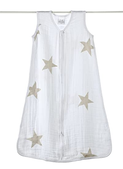 Amazon.com : aden + anais 8067G Summer Baby Sleeping Bag Lightweight Size M with Super Star Scout Motif : Baby