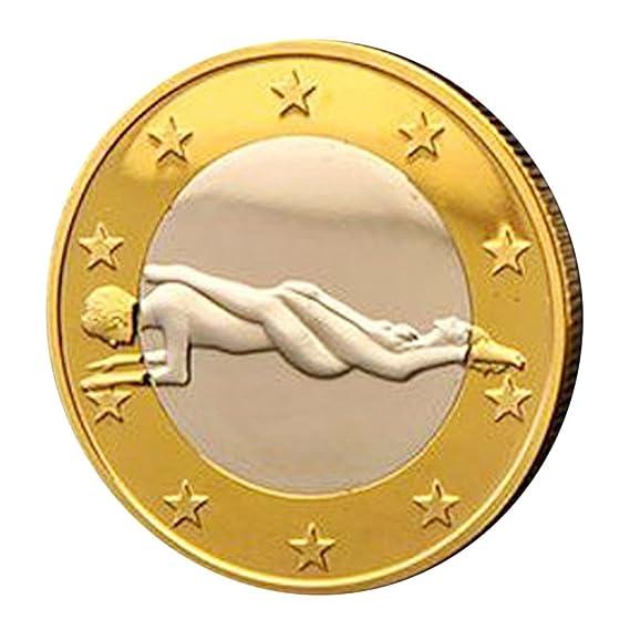 BaZhaHei Productos para adultos Juguete de Sexual 1 Pc Sexo 6 Monedas de Euro Posición Diferente Colección de Monedas duras Pareja Juguete Jewelr Sexy ...