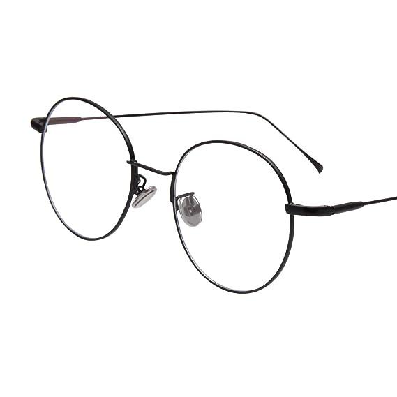 d323b051c9c Jardin d amour Designer Womens Round Oversized Fashion Metal Frame Optical  Glasses JA8024 Black