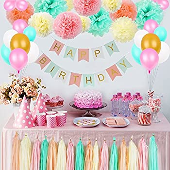 Amazon.com acetek Birthday Decorations Party Supplies,Happy