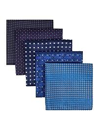 Shlax&Wing 5 Pieces Assorted Pañuelo De Bolsillo Para Hombre Handkerchiefs Set Lot