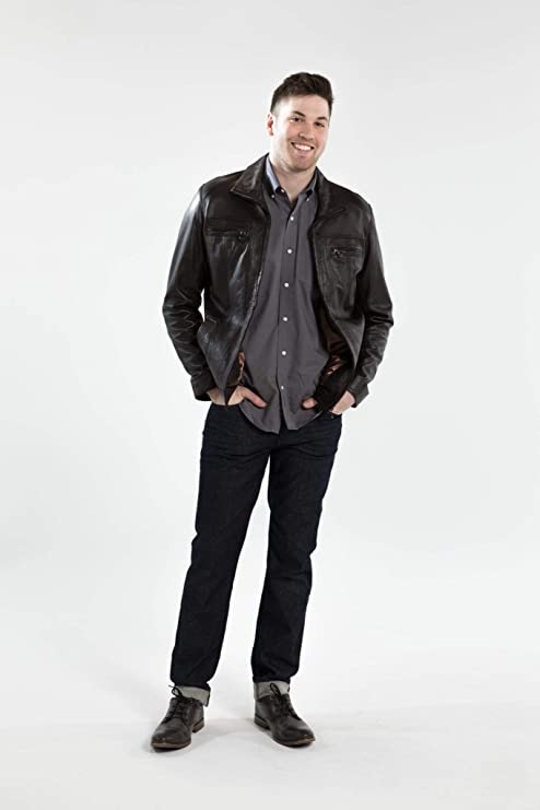 Z8 Jimmie Genuine Brown Leather Jackets for Men Slim Fit James Dean Inspired
