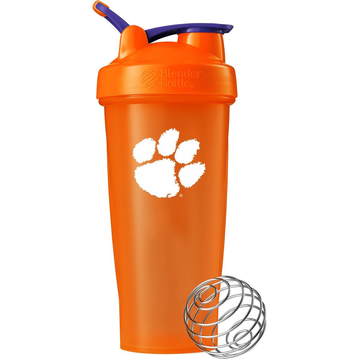 BlenderBottle Collegiate Classic 28-Ounce Shaker Bottle, Clemson University Tigers - Orange/Orange
