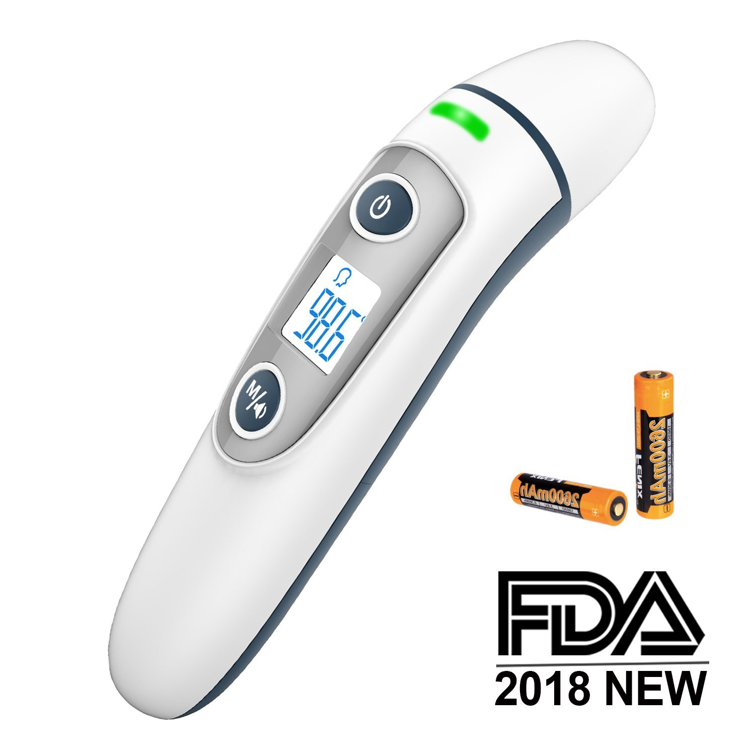 Forehead and Ear Thermometer for Baby, ULAIF Digital Medical Infrared Thermometer for Fever, Accurate Fever Indicator, Instant Read,Suitable for Infant, Adult, Object and Ambient, FDA & CE Approved