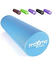 "Maximo Fitness - EVA Foam Roller - Superior Muscle Roller - Trigger Point - 6"" x 18"" (15 cm x 45 cm) - Perfect Self Massage tool for Home, Gym, Pilates, Yoga - Instructions Included."