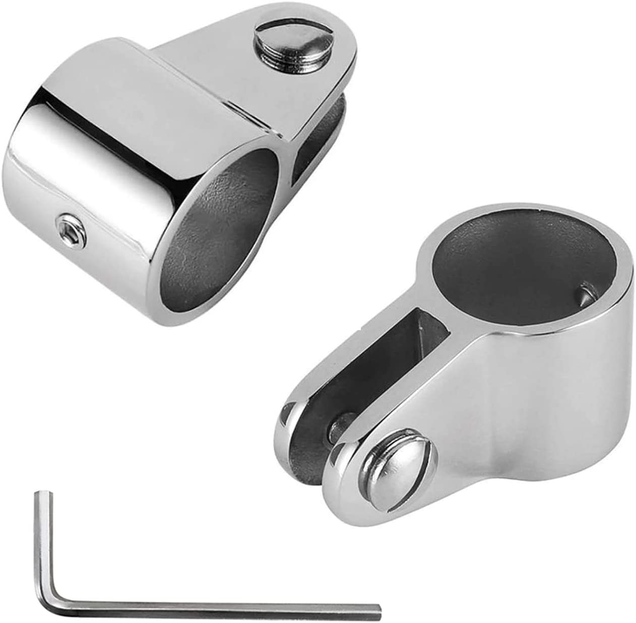 32.5mm Bimini Top Jaw Slide Stainless Steel 316 Marine Hardware Fitting 1-1//4 O.D SHENGHUI 2 PCS 1-1//4 Inch Round Tube with L Shape Hex Key