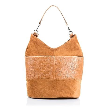 Firenze ARTEGIANI.Bolso Shopping Bag de Mujer Piel auténtica.Bolso ... 25cae29eb59b