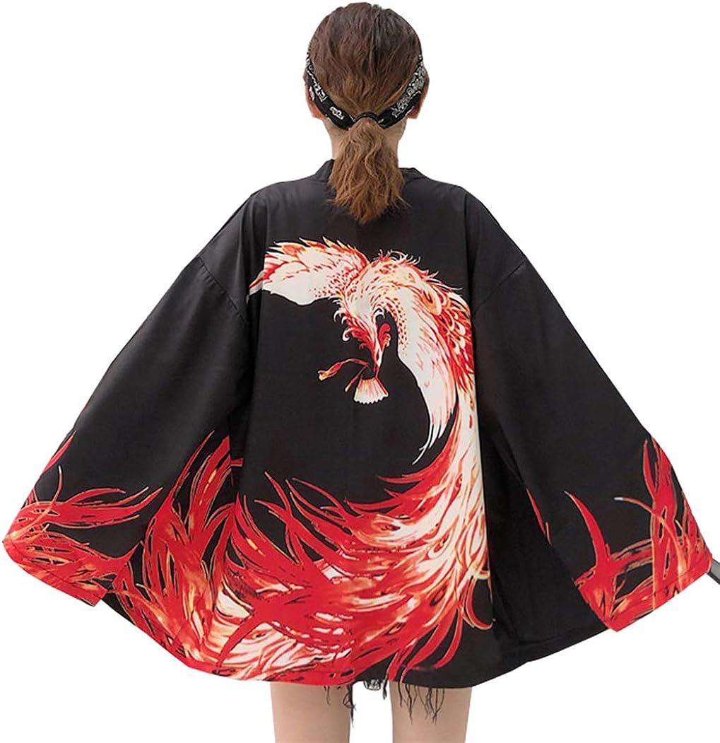 LAI MENG Womens 3//4 Sleeve Royal Dragon Embroidery Kimono Cover up OneSize UK 8-22