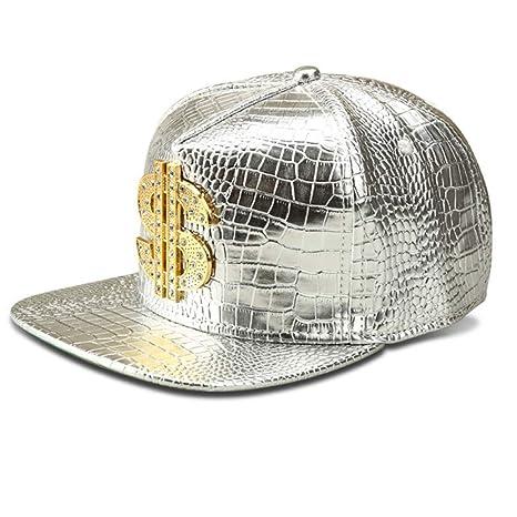 WYKDA Gorra de Beisbol Vogue Dollar Logo Cocodrilo Hip Hop Rap PU ...
