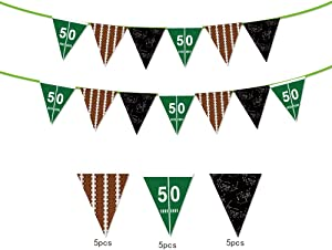 Sport Theme String Flags Banners decoration happy Birthday Party Pennant Banner for Birthday Party ,Baby Shower Party Decorations