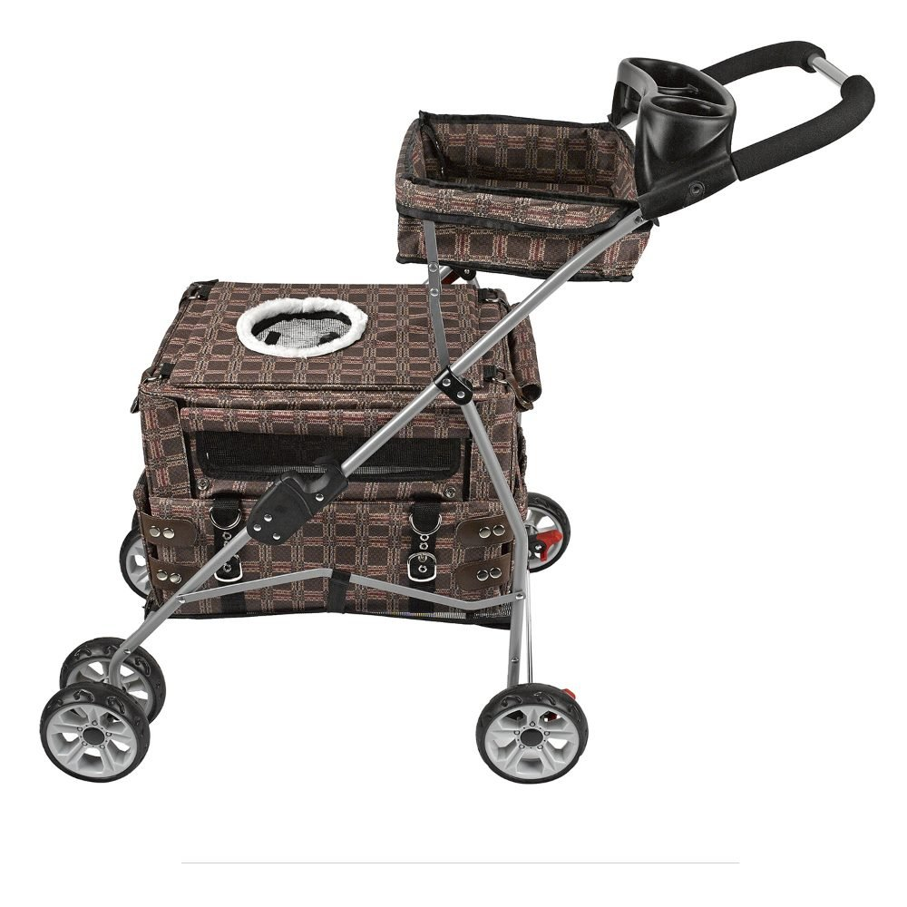 Kittywalk Flying Stroller Royale 20'' x 12'' x 32''