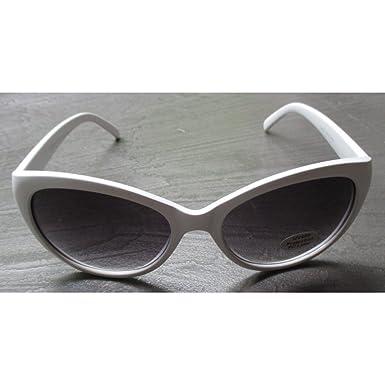 hotrodspirit - lunette de soleil femme cat eye rond blanche pin up rockab dGJwnN