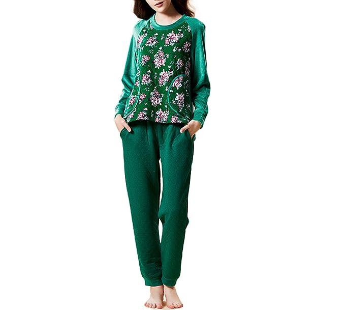 Pijama De Franela De Lujo Para Mujer Pijama Cómodo Y Abrigador SOMBRERO DE PELUCHE Súper Suave