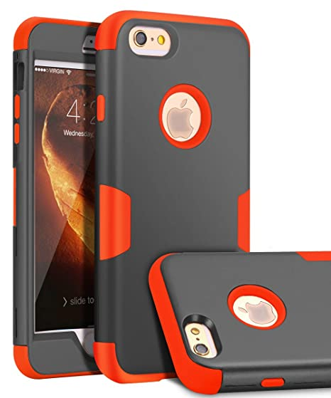 buy online f8d95 11ed8 iPhone 6 Plus Case, iPhone 6s Plus Case,TOPSKY Three Layer Heavy Duty High  Impact Resistant Hybrid Protective Cover Case for iPhone 6 Plus and iPhone  ...