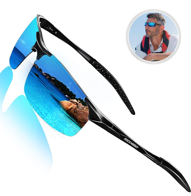 ROCKNIGHT Driving HD Polarized UV Protection UltraLight Golf Fishing UV400 Sports Sunglasses