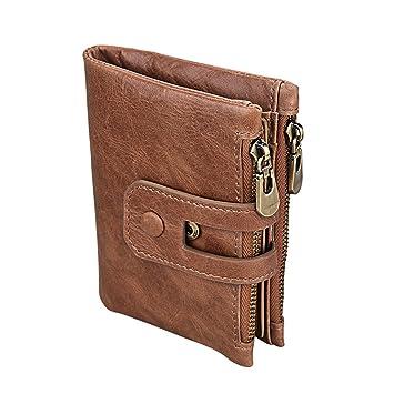 Herren PU Leder Geldbörse Portemonnaie für Männer Brieftasche Mit Reißverschluss