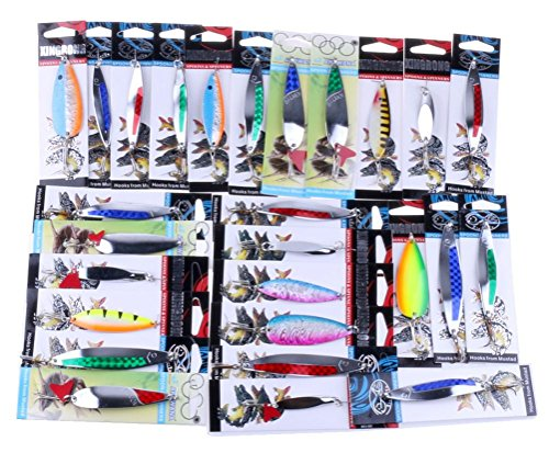 KESEE Details about Fishing Lures Metal Spinner Baits Crankbait Assorted Fish Tackle (Jig Rattlin)
