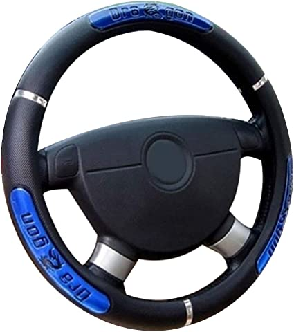 Mayco Bell Black Microfiber Leather Auto Car Steering Wheel Cover Universal 15 inch