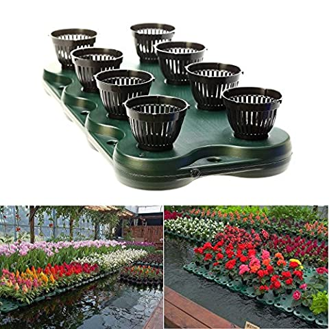8Plugs /1pc Aquaponics Floating Pond Planter Basket- Hydroponic Island Gardens by Aquarium Supplies