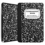 (US) Tab A 10.1 with S Pen Case - Leafbook Slim Lightweight Smart Shell Cover for Samsung Galaxy Tab A 10.1 Tablet(SM-P580), Composition Book