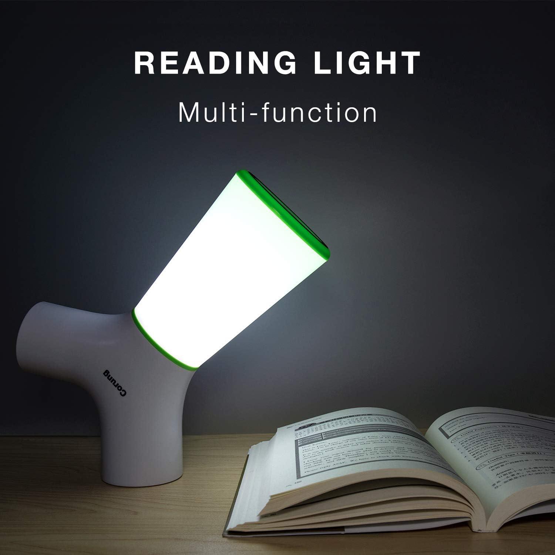 Bedside Desk Lamp USB Charger Ports Bluetooth Speaker Portable LED Table Night Light for Bedroom Living Room