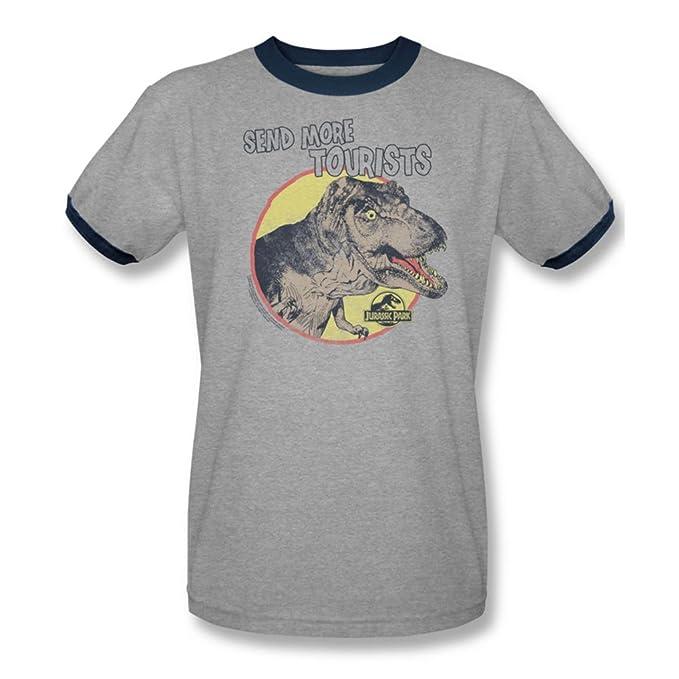 Camiseta Jurassic Park - para hombre más de los Turistas En Heather/Navy Heather/Navy: Amazon.es: Ropa y accesorios
