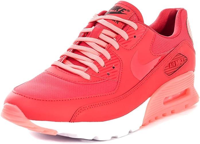 Nike Air Max 90 Ultra Essential, Chaussures de Sport Femme - Rouge ...