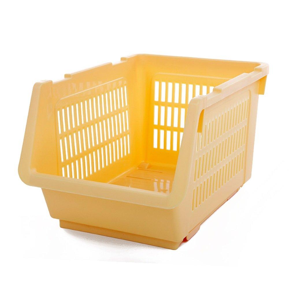 プラスチックは果物や野菜のバスケット、キッチンラック、床仕上げストレージ、果物や野菜のバスケットなどにご使用いただけます。 イエロー B07HKXDT9M イエロー