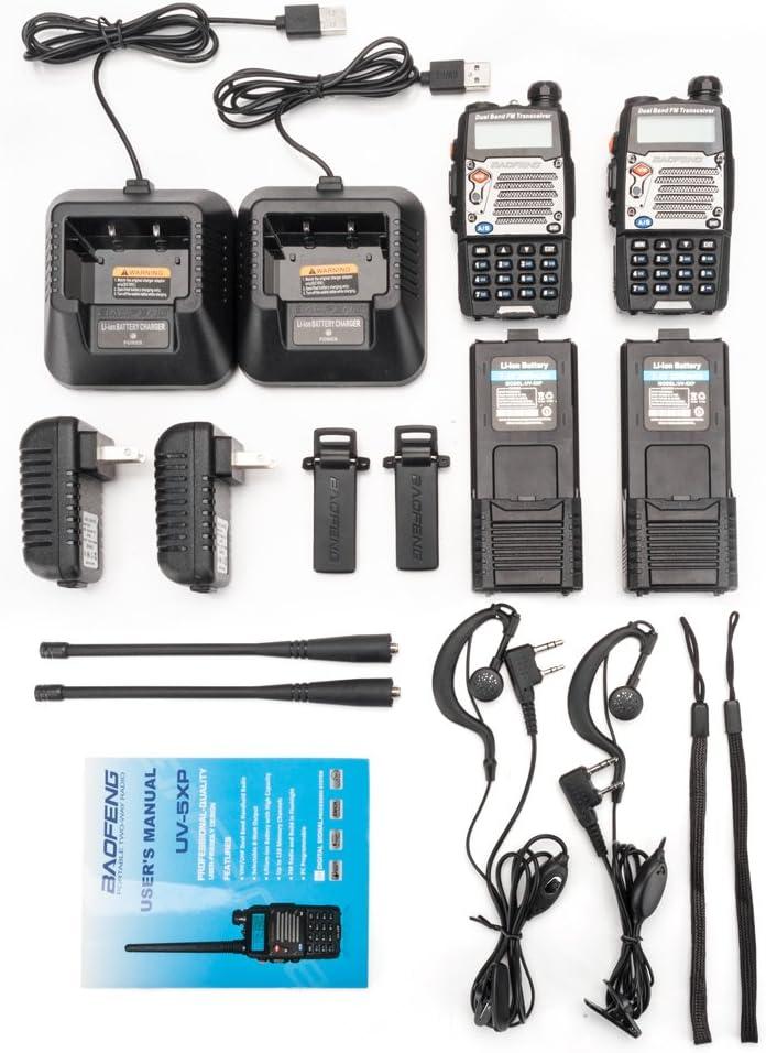 Earphone Baofeng UV-5XP 2-Way Radio 8W USB Semi-Duplex Walkie Talkie VHF//UHF