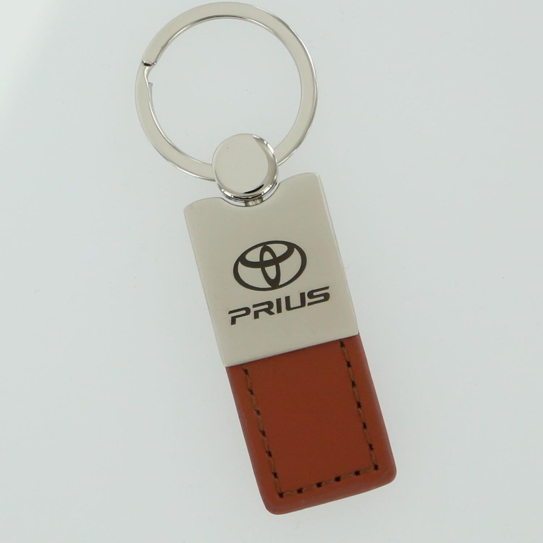 Toyota Prius Brown Leather Key Ring
