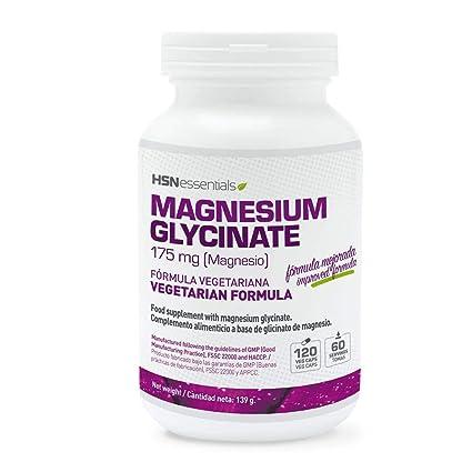 Glicinato de Magnesio de HSN Essentials– 350mg de Magnesio de Alta Biodisponibilidad - Suplemento para