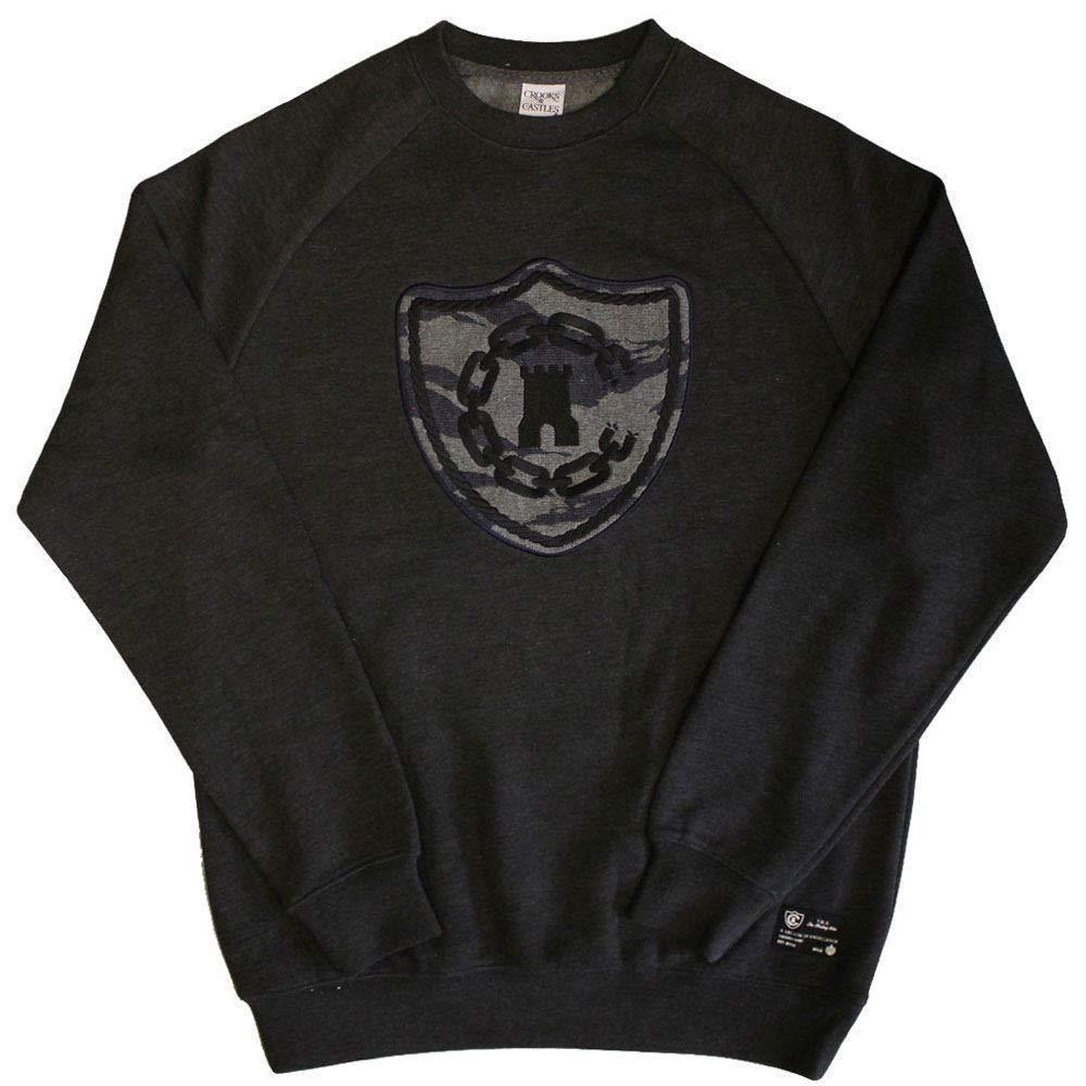 Crooks /& Castles Tiger Camo Denim Sweatshirt Black