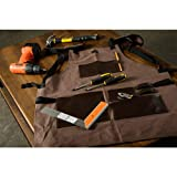 Premium Waxed Canvas Tool Apron With Leather