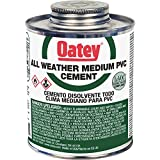 Oatey 31133 PVC All Weather Cement, Clear, 32-Ounce