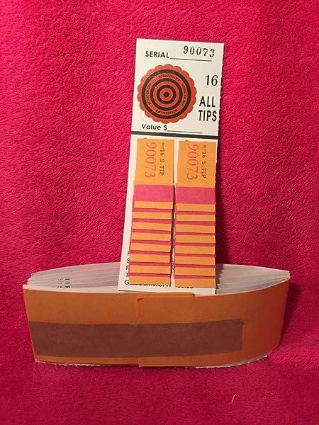 Opmnla 1 Dozen 100//50//200//55//36 Sure Tip Board Fund Raising Raffle Bingo Pull Tab Jar Raffle Tickets VTG Key for Football Match