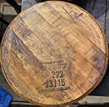 Makers Mark Bourbon Whiskey Barrel Top Lazy Susan - Made from an Authentic Bourbon Whiskey Barrel Lid