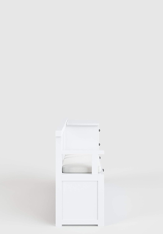 Phoenix Country Sitzbank MDF lackiert Weiss 120x75.8x40