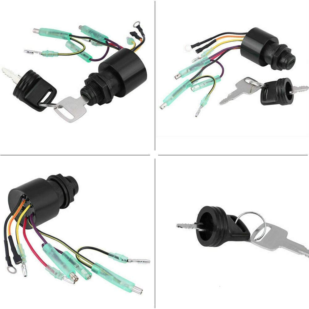 GCDN Interrupteur dallumage pour bo/îtier de t/él/écommande Hors-Bord Mercury 87-17009A5 Plug and Play Interrupteur /à cl/é dallumage pour Bateau Moto