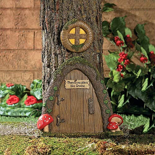 Garden Gnome Home Door in a Tree Art Pieces Outdoor Yard Decor from Fun Express