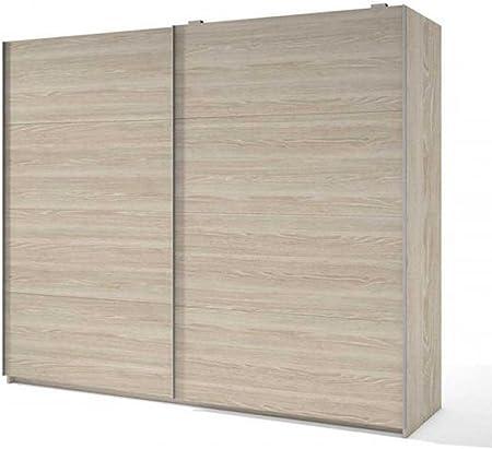 PEGANE Armario con 2 Puertas correderas, Colores Arena – Dim: 201 x 215,50 X 53,80 cm: Amazon.es: Hogar