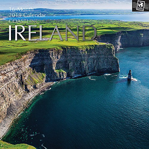 (2019 Wall Calendar - Coastlines of Ireland Calendar, 12 x 12 Inch Monthly View, 16-Month, Travel and Beach Destination Theme, Includes 180 Reminder Stickers)
